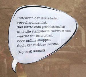 Sprechblase Buy Local Haidhausen