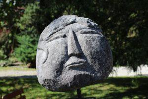 Eine Skulptur im Garten von ZIST (Foto: Simone Zahn)